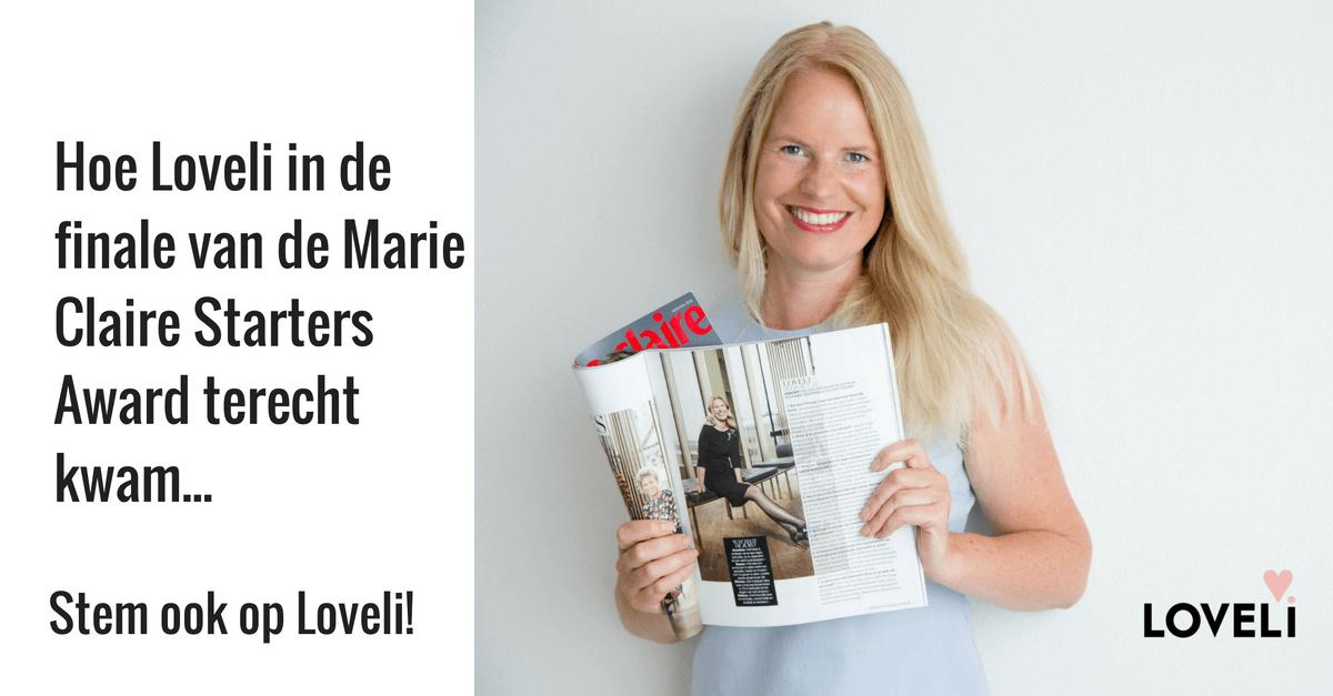 Loveli in finale Marie Claire Starter Award